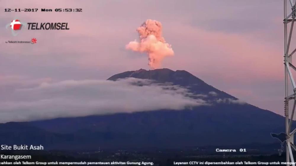 bali volcano mount agung pink steam cloud clenched fist 2540076170001_5676204656001_5676177961001-vs